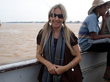 Ferry over the Mekong