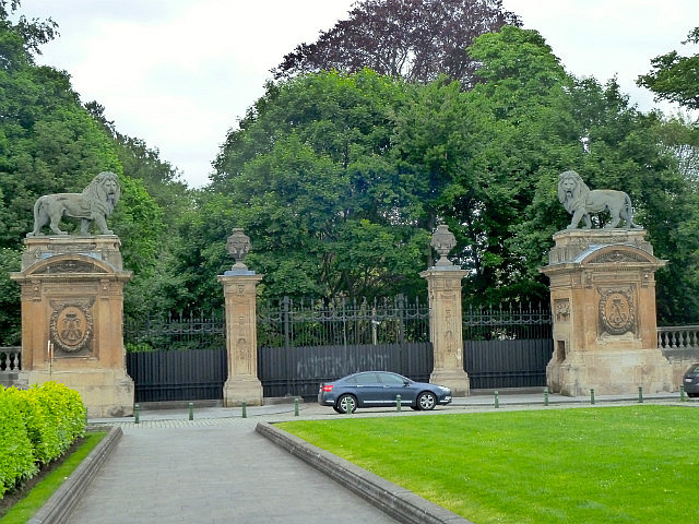 Back entrance to palace