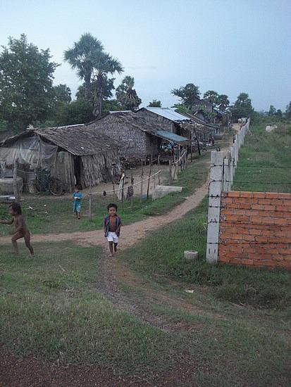 Kids running to say hi