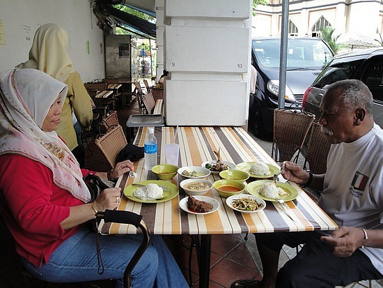 Local Older couple & their lunch