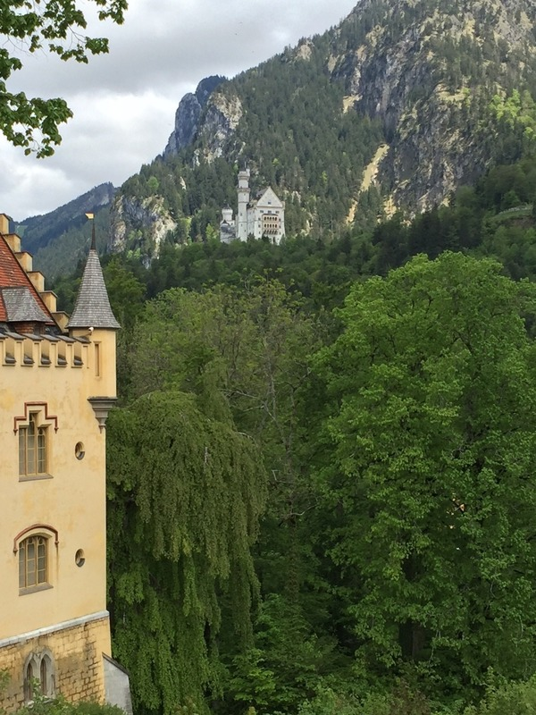 View over to Neuschwanstein Castle