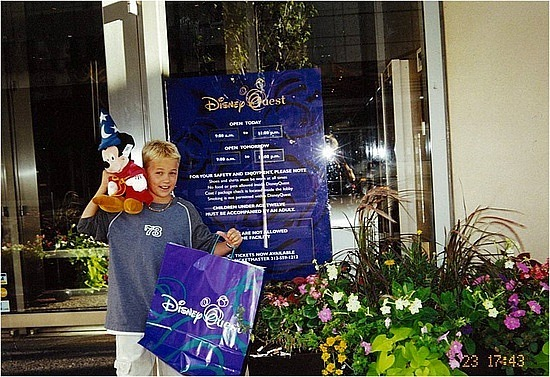 Nick with his Disney souveneirs