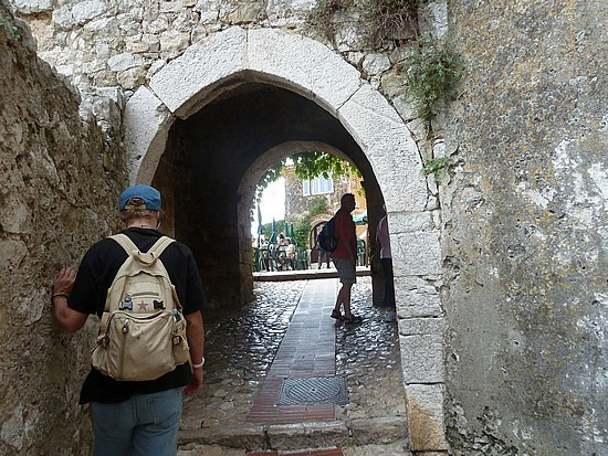 Entry gate and  walls of Eze