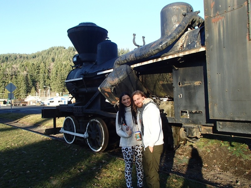 Nick and Madi at the train restaurant