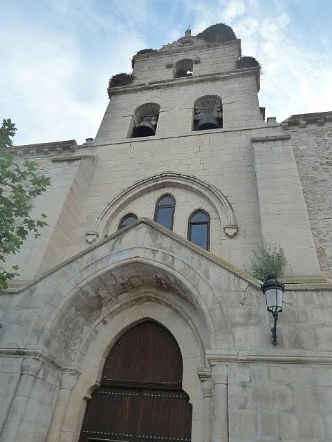 Stork nest in church tower