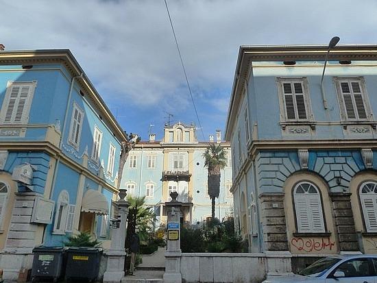 Blue decorative building
