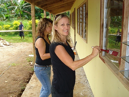 Gail & I doing some painting