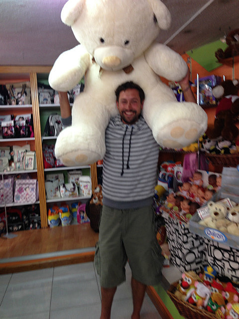 Marc with the bear