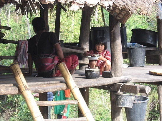 Hilltribe villager that sells drinks