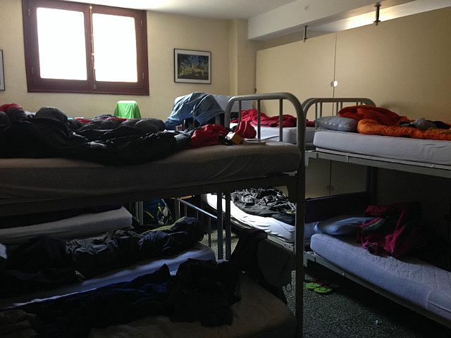In the corner bottom bunk