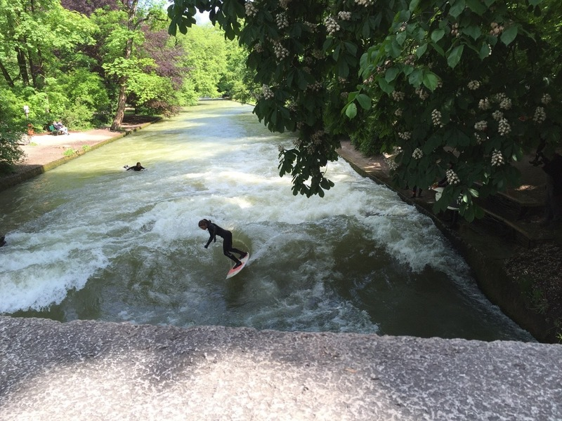 Surfing in the English Gardens