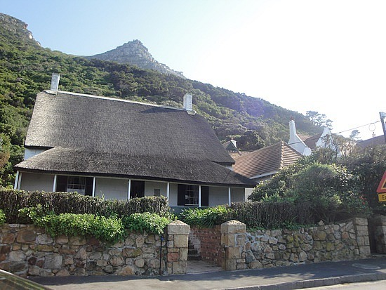 Thatched cottage at Muzenberg Beach