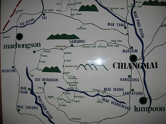 Map of where we hiked
