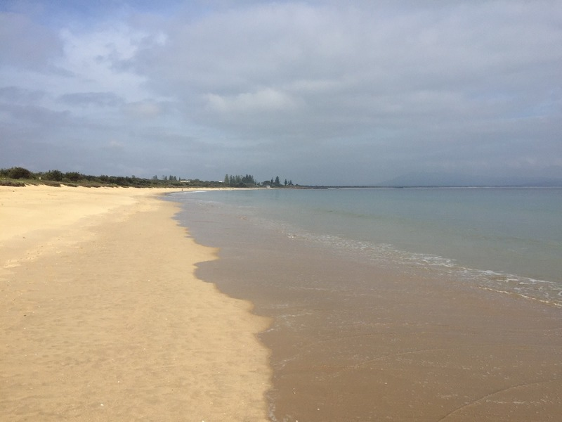 Walking along the beach to South West Rocks
