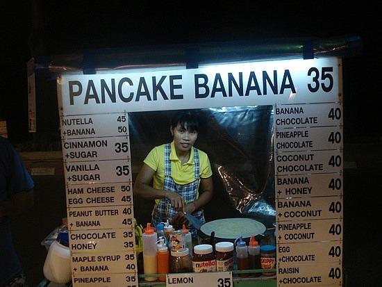 Banana & Choc pancake