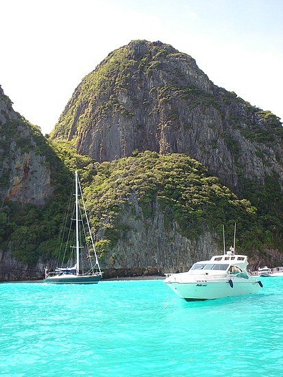 Maya Beach - the water really is that colour