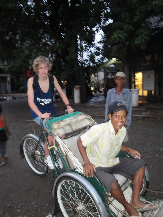 Nath driving the Cyclo