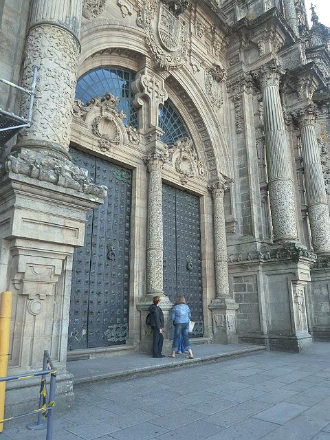 Massive Front Door of cathedral
