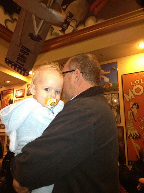 Papa at Red Robin with Ezra