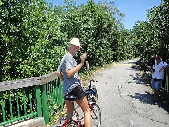 Helen on the bike