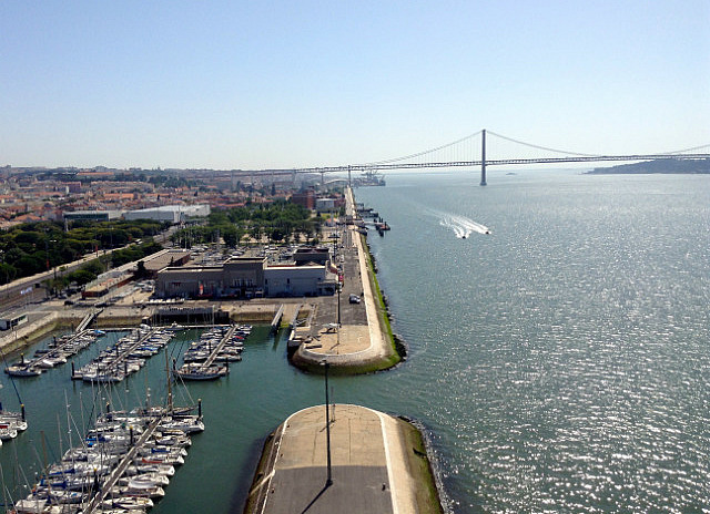View from top of Seafarers monument