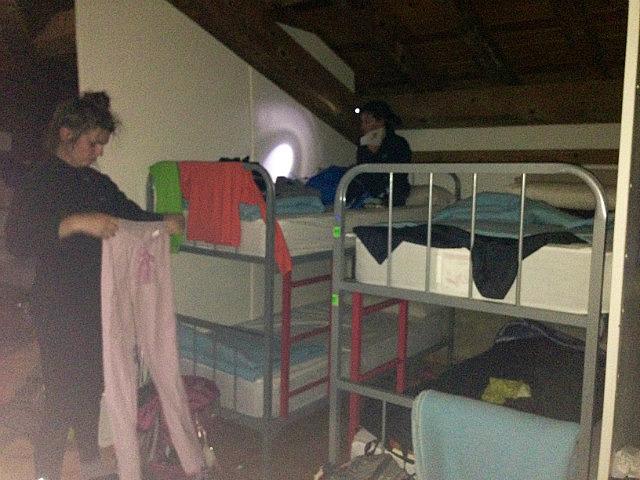 Attic bunks