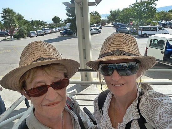 Mum and I in our new hats