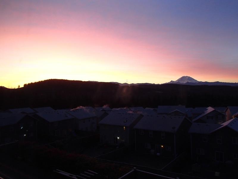 Mt Ranier sunset
