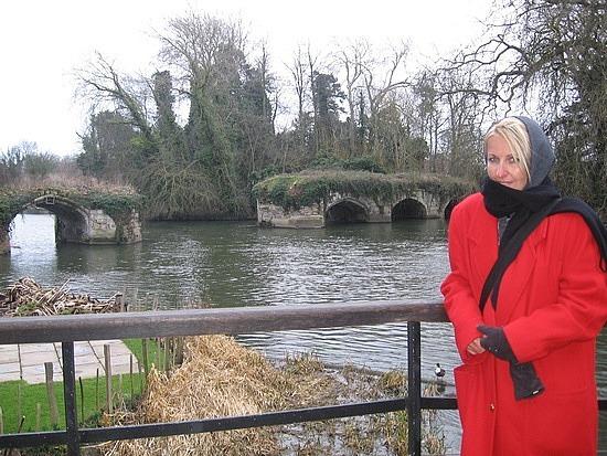 River by castle