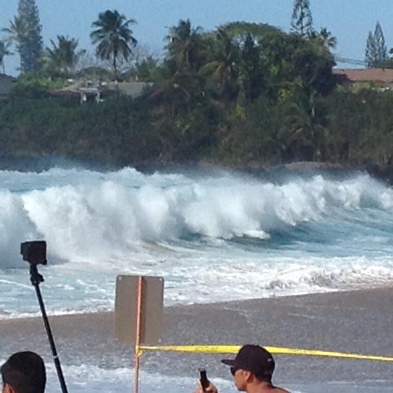 Huge shore break