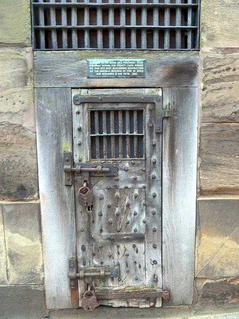 Old prison door