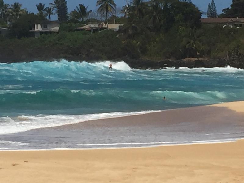 Treacherous corner of the beach