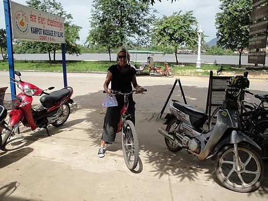 Exploring Kampot by bike