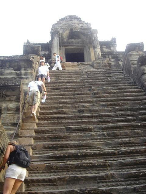 Steep steps in Angkor Wat