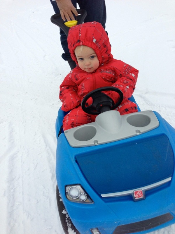 Ezra in his snowsuit