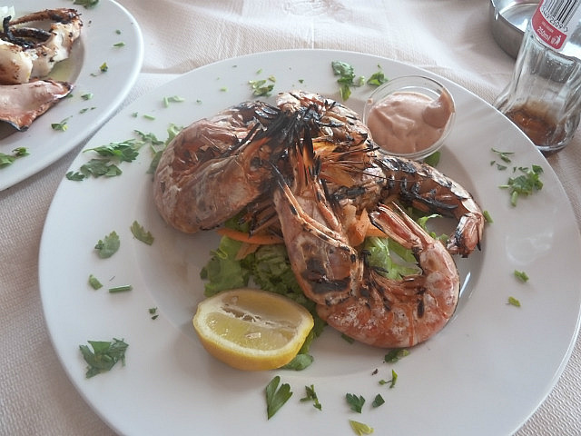 My prawn dinner
