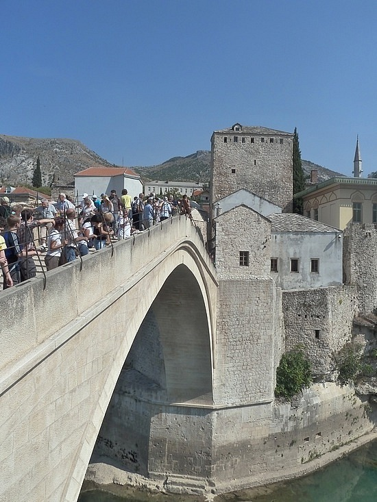 The bridge - heart and soul of Mostar