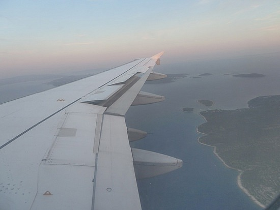 Flying into Split , Croatia