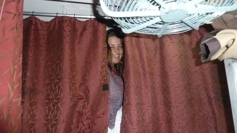 Kerryn on her top bunk