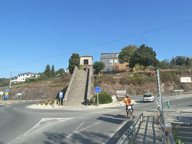 Steps up into Portomarin town