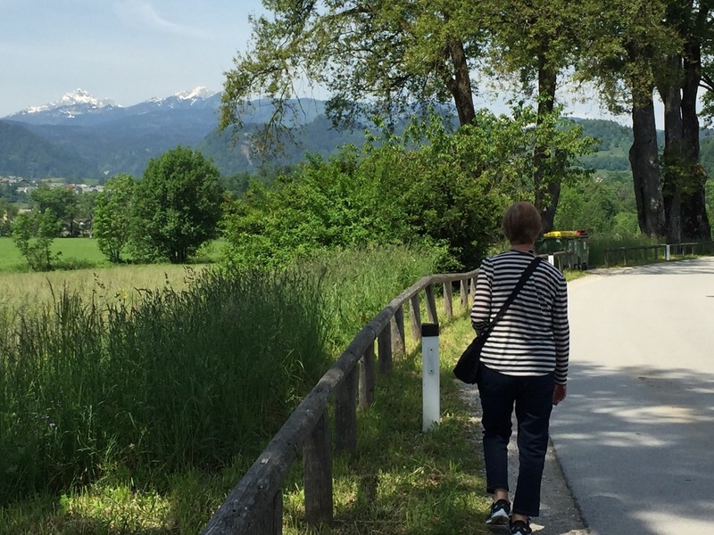 Mum walking to the gorge