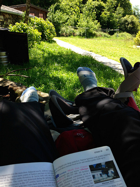 Shoes off relaxing