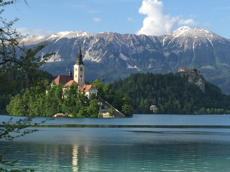 Island and alps