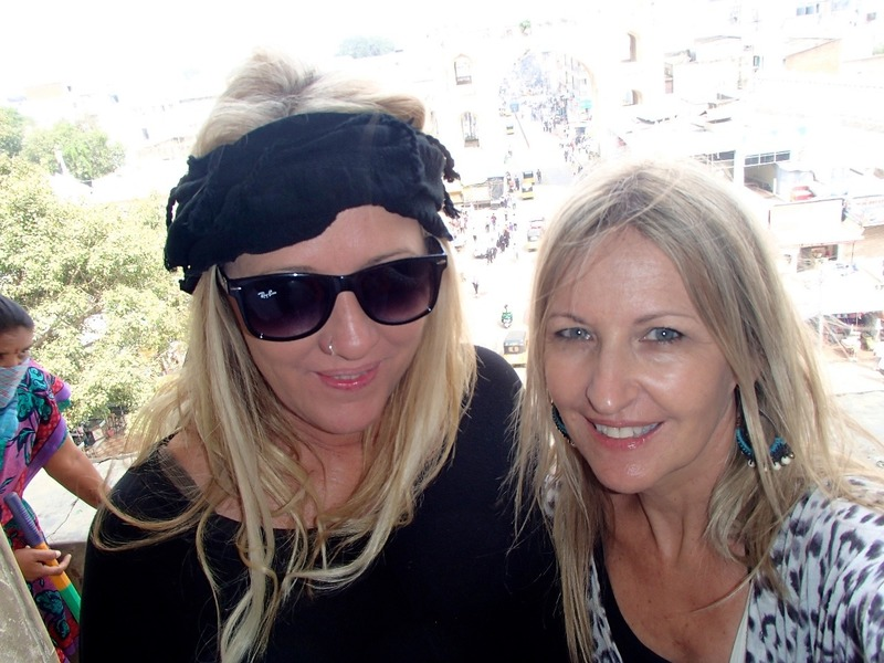 Leigh and I at top of Charminar