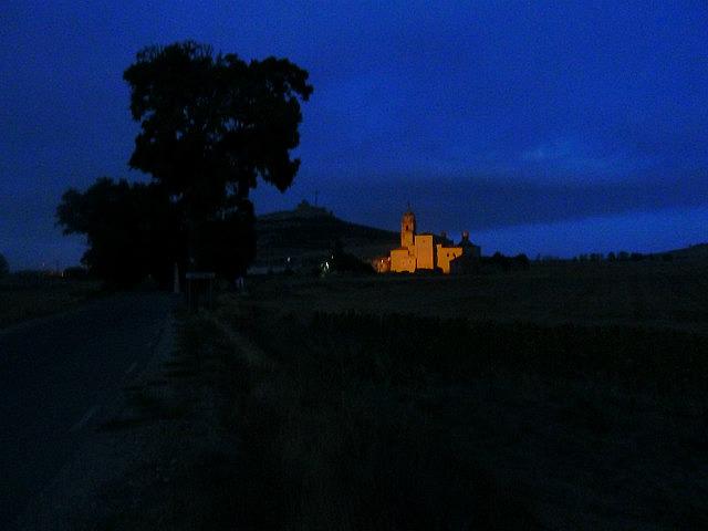 Castle at Castrojeriz by moonlight