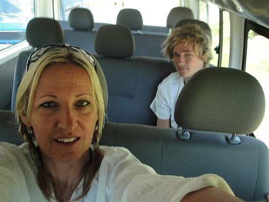Just the 2 of us in the van!!!