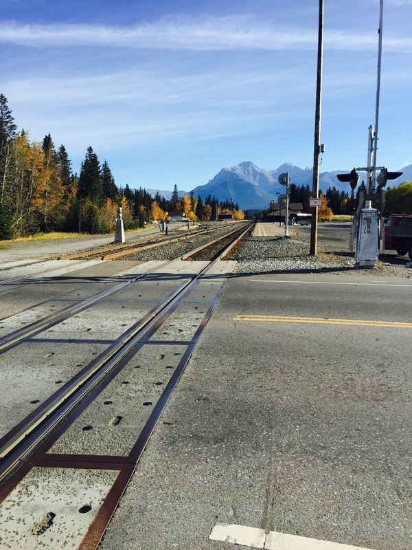 Banff railway tracks