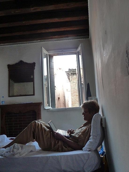 Mum reading this morning