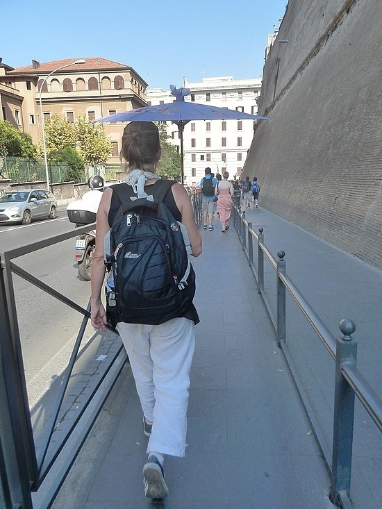 Keeping cool under my 5 euro umbrella