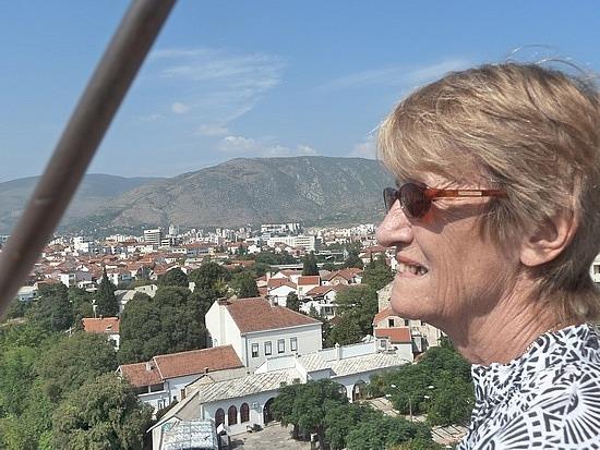 Mum at top of minaret
